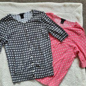 Ann Taylor Short Sleeve Cardigans Lot of 2
